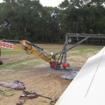 On site cutting / transport / recycling of wind turbine blades.